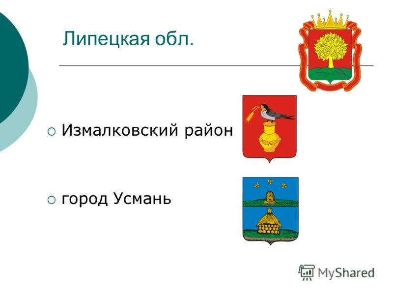 Липецкая обл. Измалковский район город Усмань