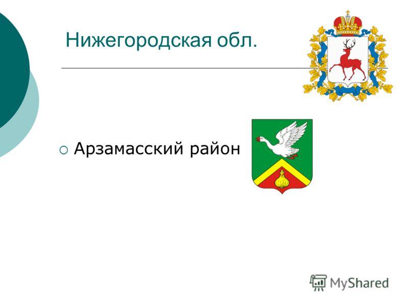 Нижегородская обл. Арзамасский район