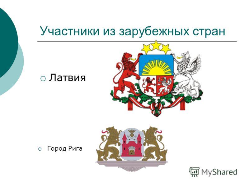 Участники из зарубежных стран Латвия Город Рига