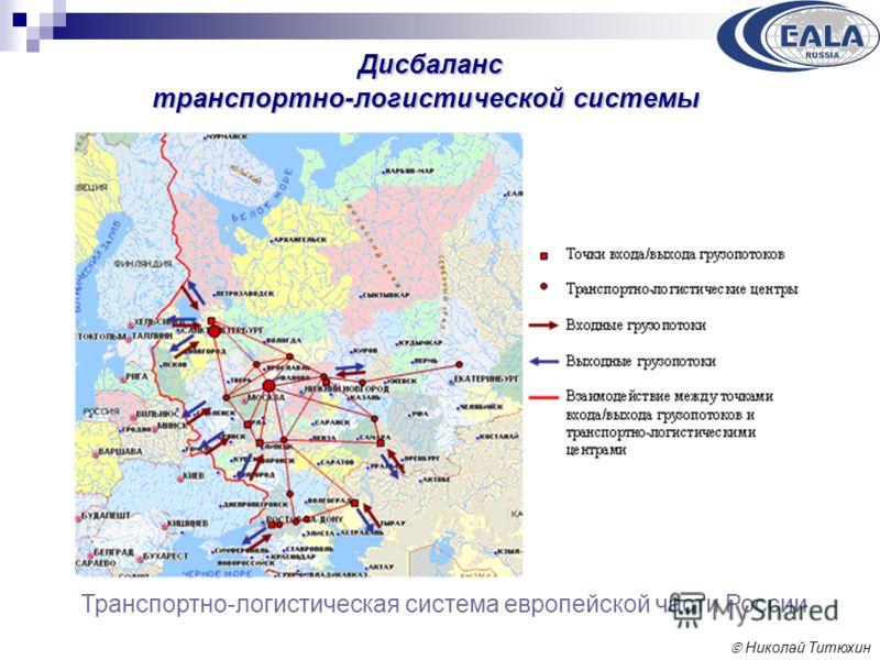 Николай Титюхин Дисбаланс транспортно-логистической системы Транспортно-логистическая система европейской части России