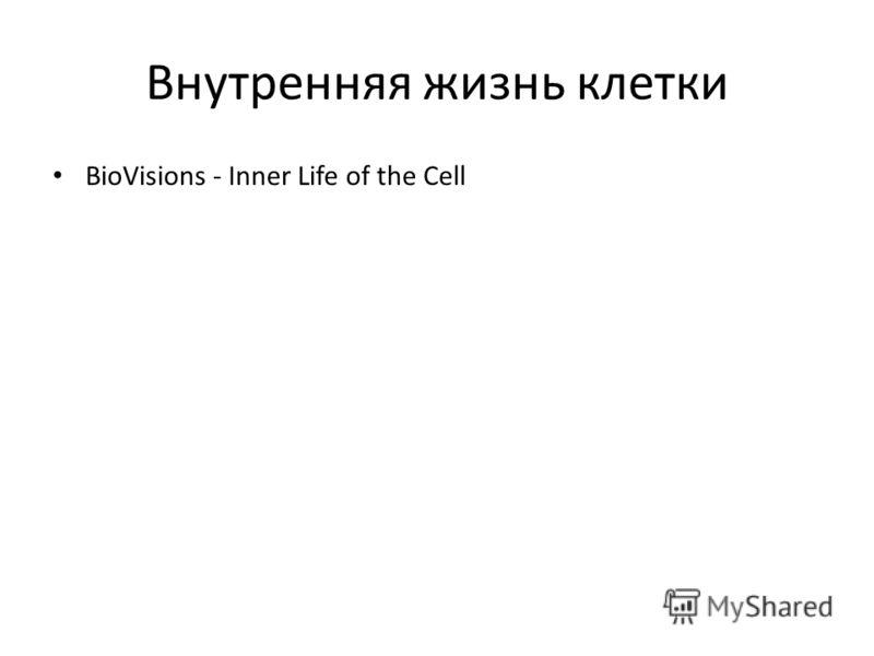 Внутренняя жизнь клетки BioVisions - Inner Life of the Cell