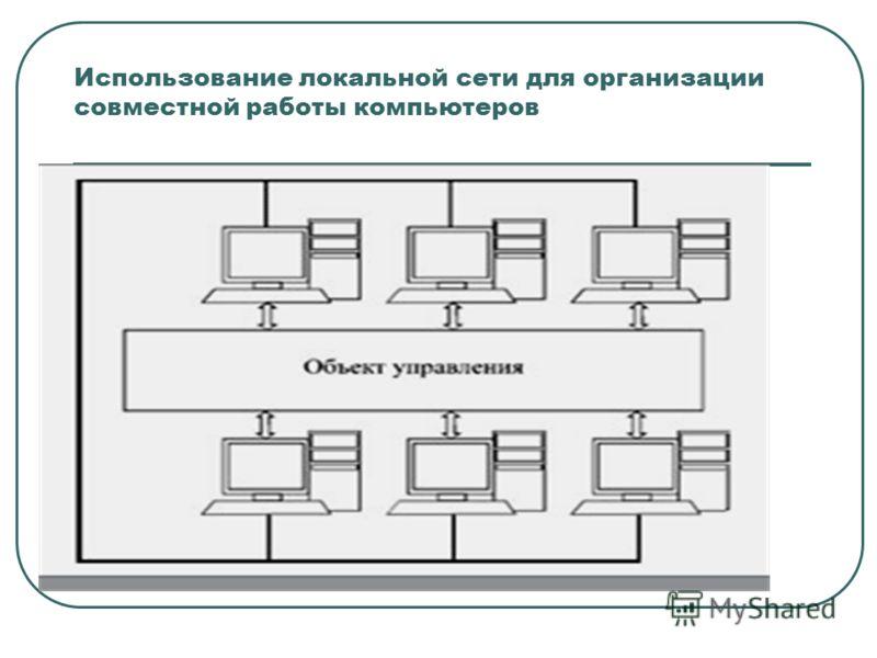 Использование локальной сети для организации совместной работы компьютеров