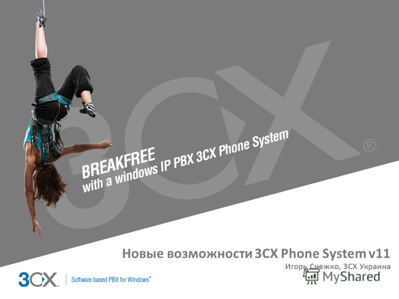 Copyright © 2002 ACNielsen a VNU company Новые возможности 3CX Phone System v11 Игорь Снежко, 3CX Украина