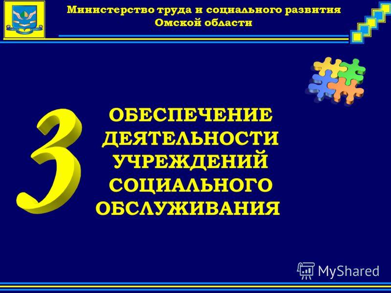 Company Logo Министерство труда и социального развития Омской области ОБЕСПЕЧЕНИЕ ДЕЯТЕЛЬНОСТИ УЧРЕЖДЕНИЙ СОЦИАЛЬНОГО ОБСЛУЖИВАНИЯ