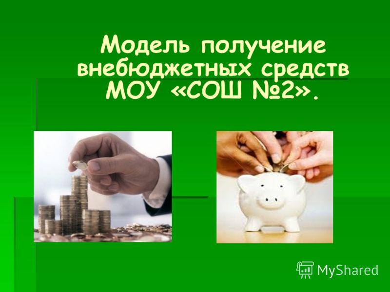Модель получение внебюджетных средств МОУ «СОШ 2».