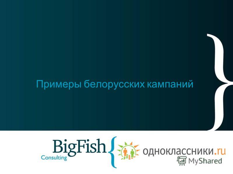 Примеры белорусских кампаний