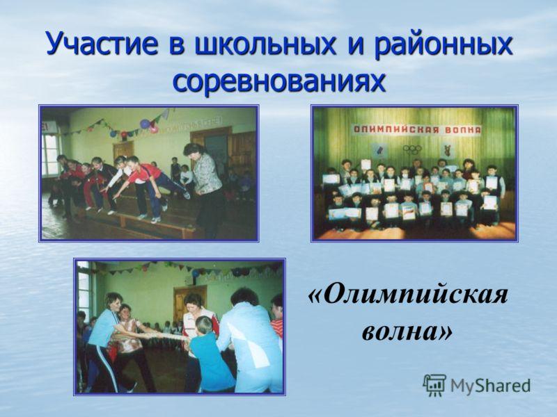 Участие в школьных и районных соревнованиях «Олимпийская волна»