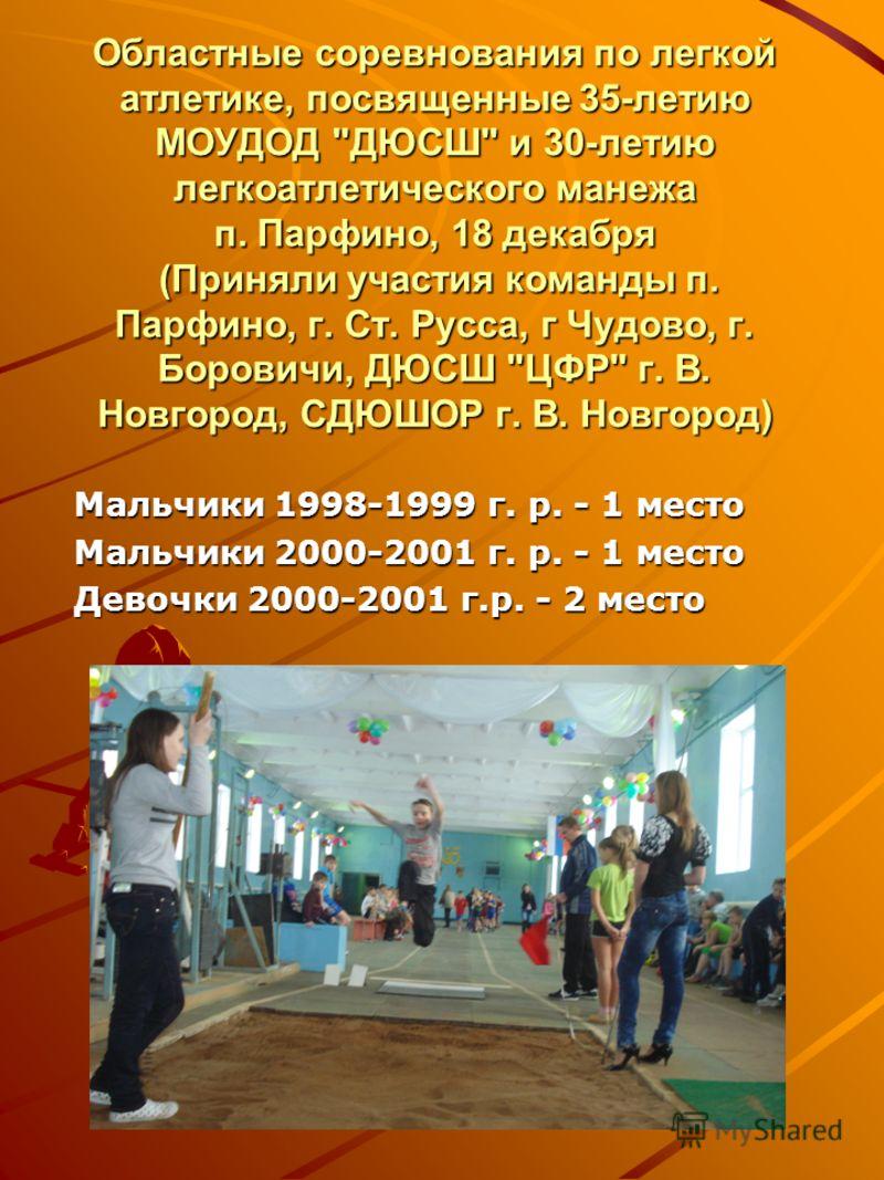 Областные соревнования по легкой атлетике, посвященные 35-летию МОУДОД