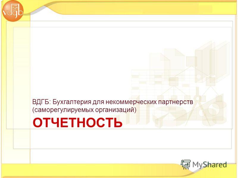 ОТЧЕТНОСТЬ ВДГБ: Бухгалтерия для некоммерческих партнерств (саморегулируемых организаций)