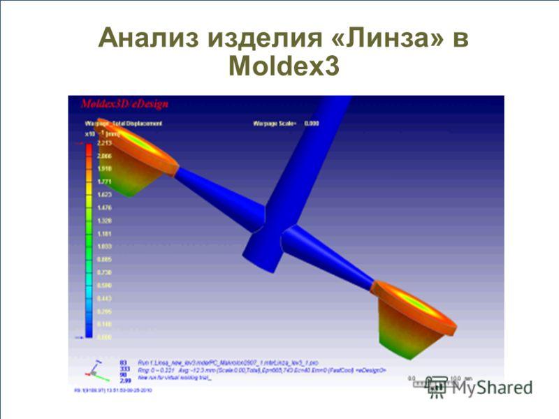 Анализ изделия «Линза» в Moldex3