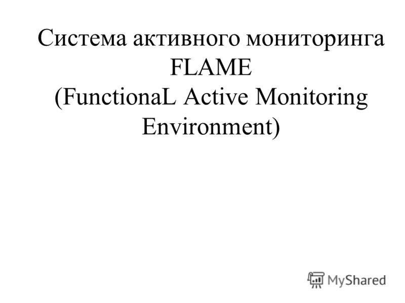 Система активного мониторинга FLAME (FunctionaL Active Monitoring Environment)