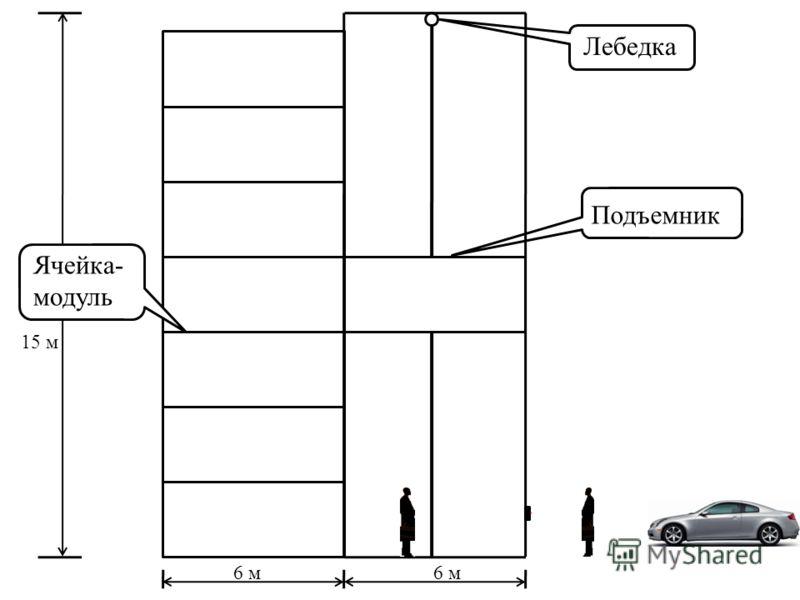 Лебедка Подъемник 6 м Ячейка- модуль 15 м