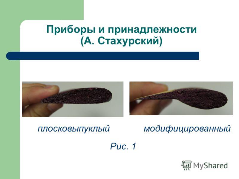 Приборы и принадлежности (А. Стахурский) модифицированный Рис. 1 плосковыпуклый