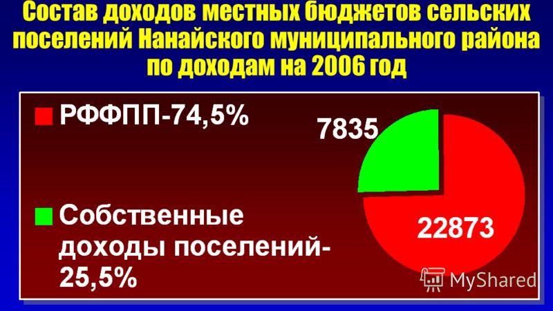 Состав доходов местных бюджетов сельских поселений Нанайского муниципального района по доходам на 2006 год