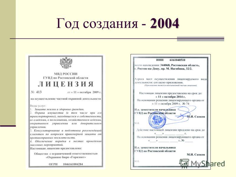 2004 Год создания - 2004