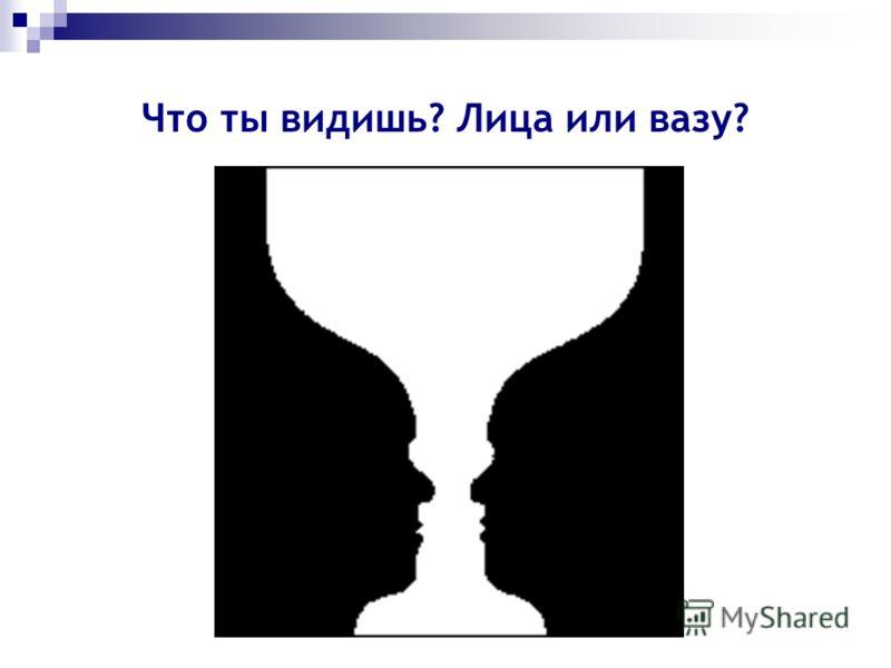 Что ты видишь? Лица или вазу?