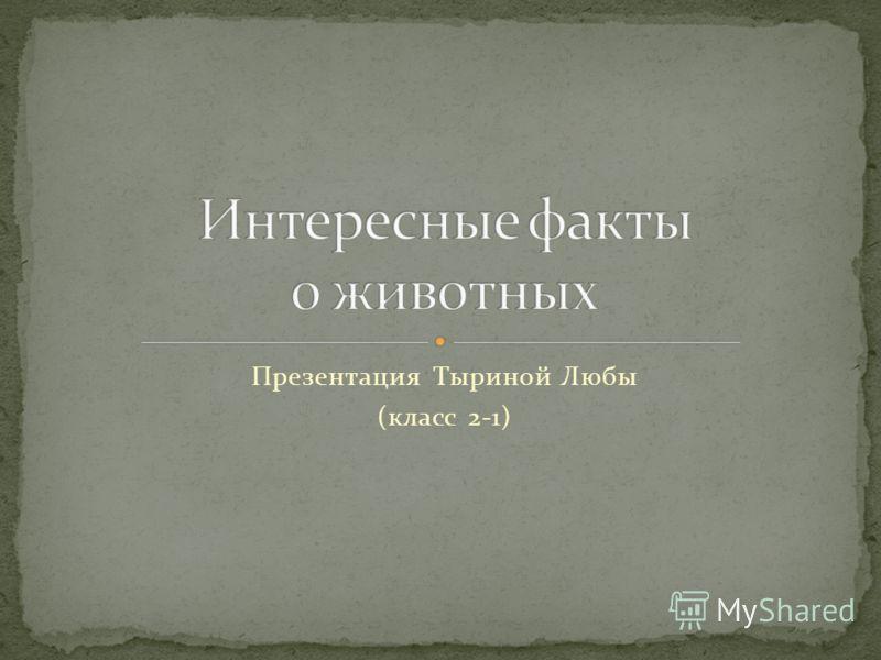 Презентация Тыриной Любы (класс 2-1)