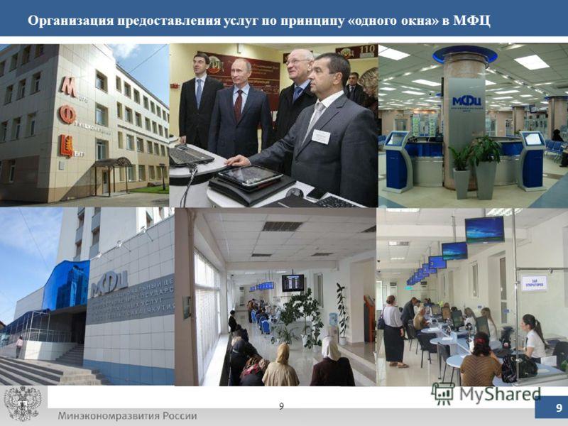 Организация предоставления услуг по принципу «одного окна» в МФЦ 9 9
