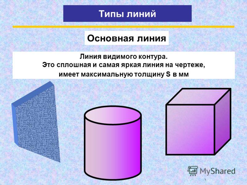 Чертежный алфавит состоит всего из шести букв-линий. С помощью этих линий можно прочитать чертеж любой сложности и изготовить по нему начерченный предмет. Чертежный алфавит это типы линий