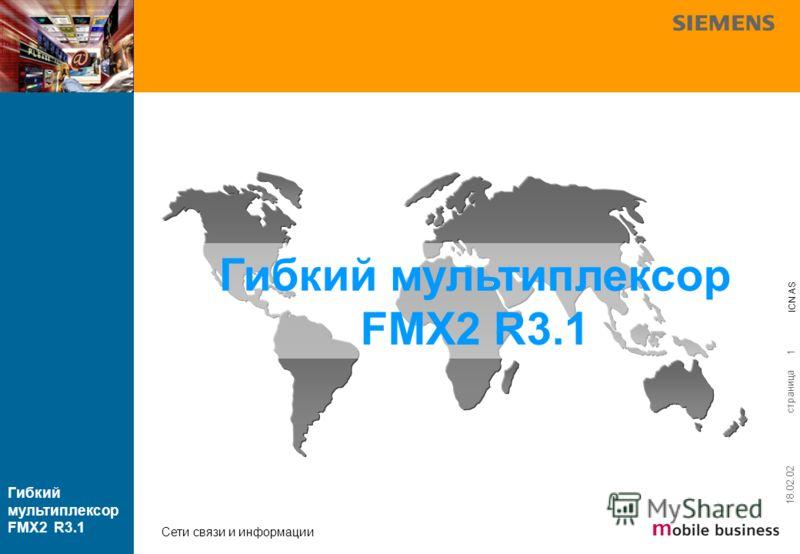страница ICN AS Гибкий мультиплексор FMX2 R3.1 Сети связи и информации 18.02.02 1 Гибкий мультиплексор FMX2 R3.1