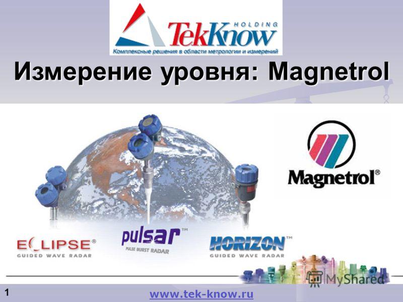 1 Измерение уровня: Magnetrol www.tek-know.ru