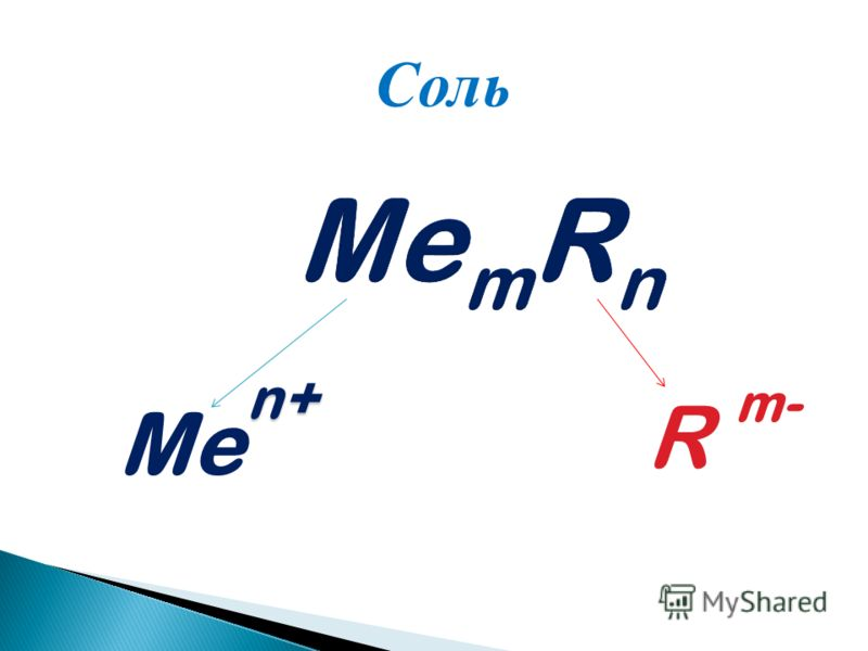 Me R m- n+ Соль
