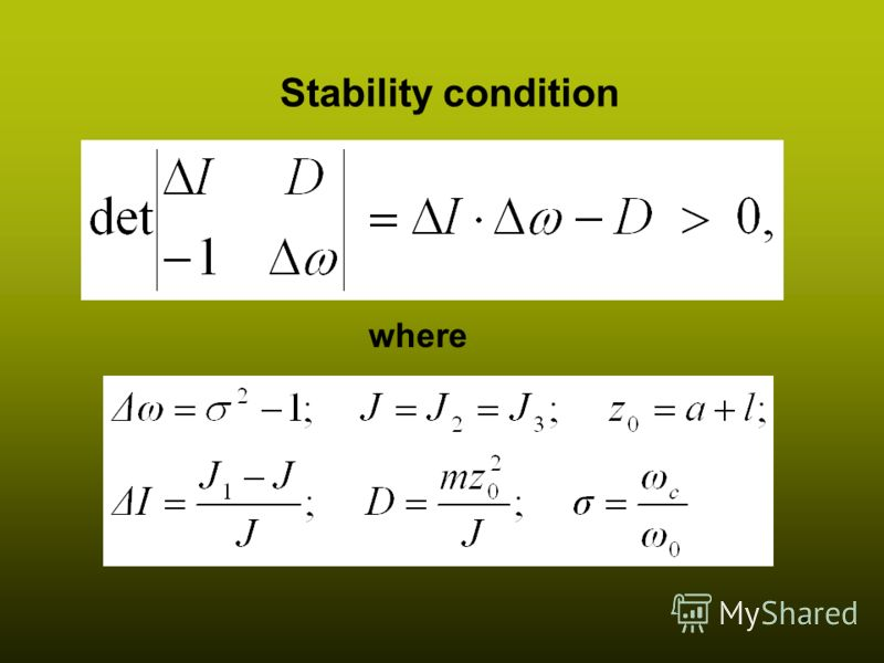 8 Stability condition where