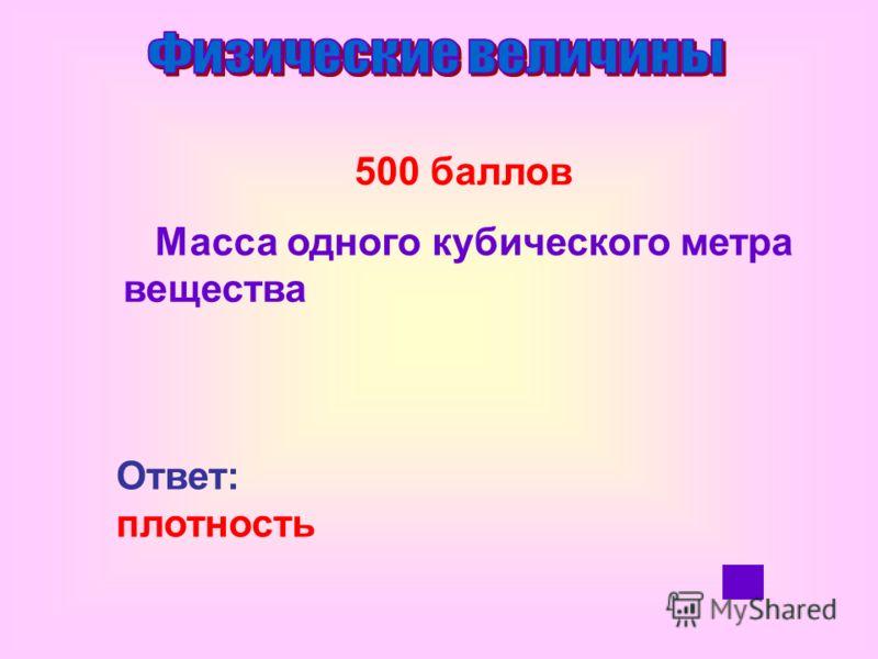 400 баллов Суммарная сила упругости тела, действующая на опору или подвес Ответ: вес