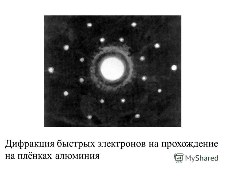 Дифракция быстрых электронов на прохождение на плёнках алюминия