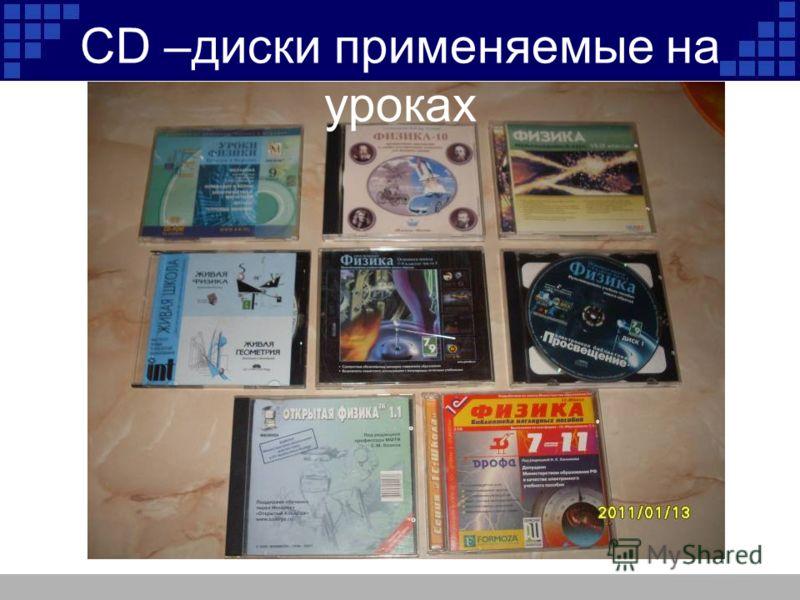 CD –диски применяемые на уроках