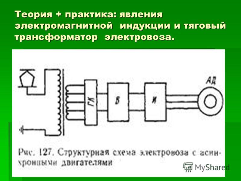 Теория + практика: явления электромагнитной индукции и тяговый трансформатор электровоза.