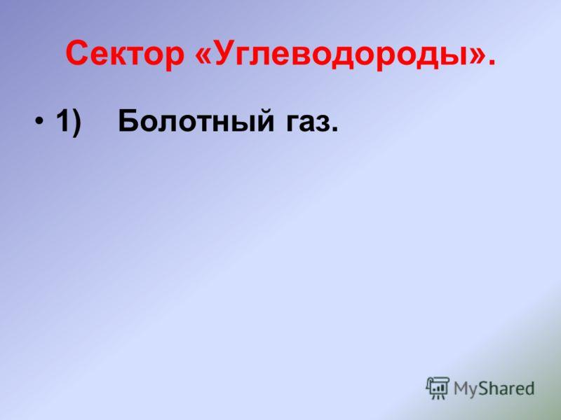 Сектор «Углеводороды». 1) Болотный газ.