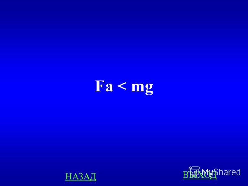 ЗАДАЧИ 100 Тело погруженное в жидкость начинает тонуть. Каково соотношение между силой Архимеда и силой тяжести? ответ