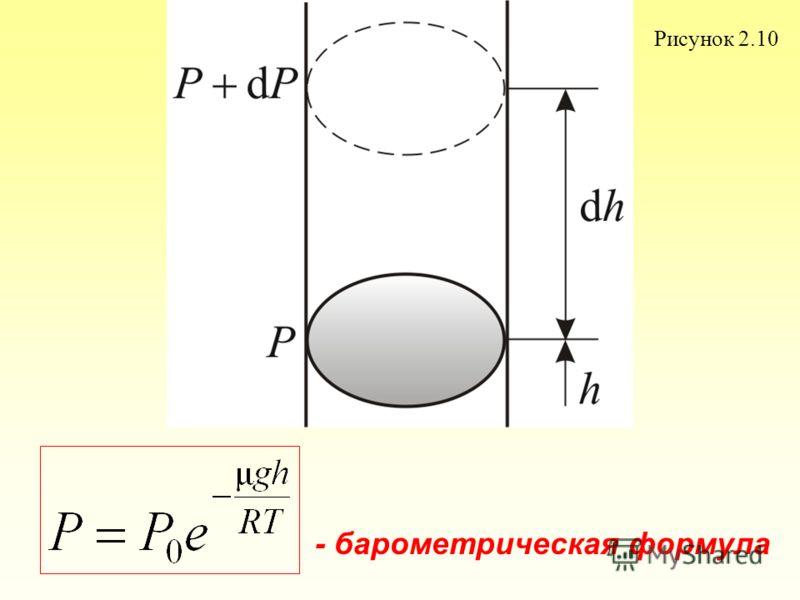 Рисунок 2.10 - барометрическая формула
