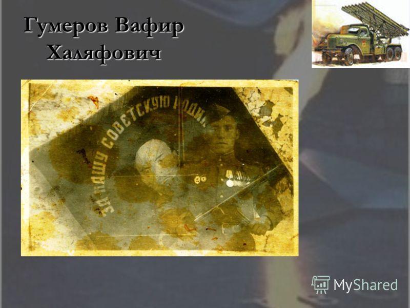 Гумеров Вафир Халяфович