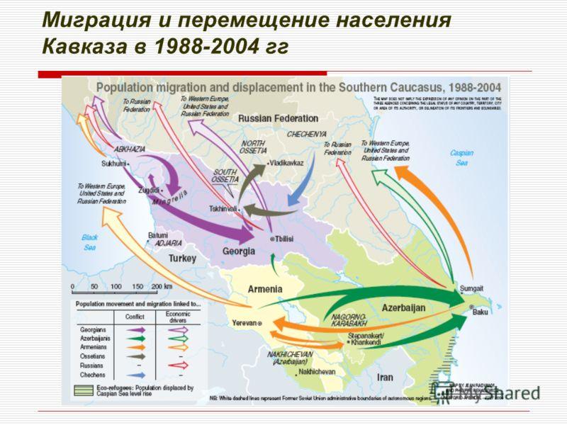 Миграция и перемещение населения Кавказа в 1988-2004 гг