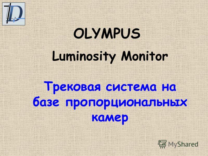 Luminosity Monitor Трековая система на базе пропорциональных камер OLYMPUS