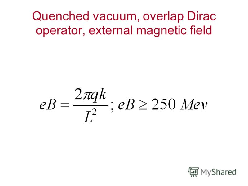 Quenched vacuum, overlap Dirac operator, external magnetic field