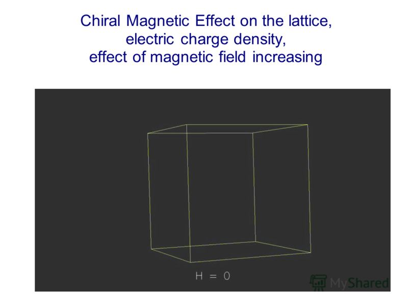 Chiral Magnetic Effect on the lattice, electric charge density, effect of magnetic field increasing