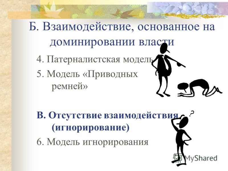 А. Партнерское взаимодействие 1. Модель поддержки, или «модель садовника» 2. Партнерская модель 3. Модель влияния НКО на власть или «Модель Архитектора»