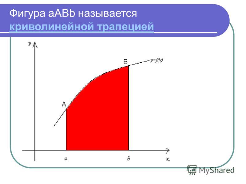 Фигура aABb называется криволинейной трапецией