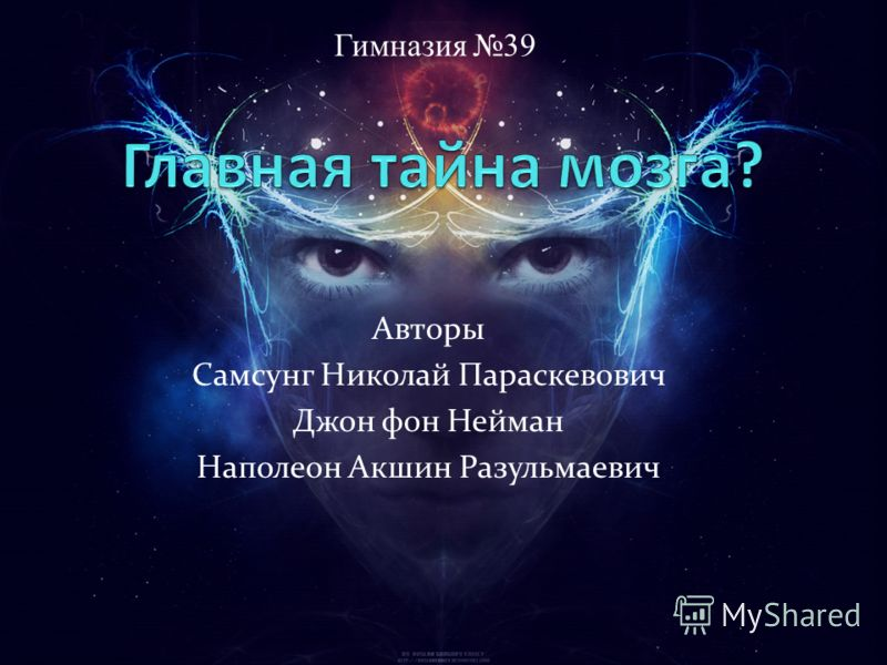 Авторы Самсунг Николай Параскевович Джон фон Нейман Наполеон Акшин Разульмаевич Гимназия 39