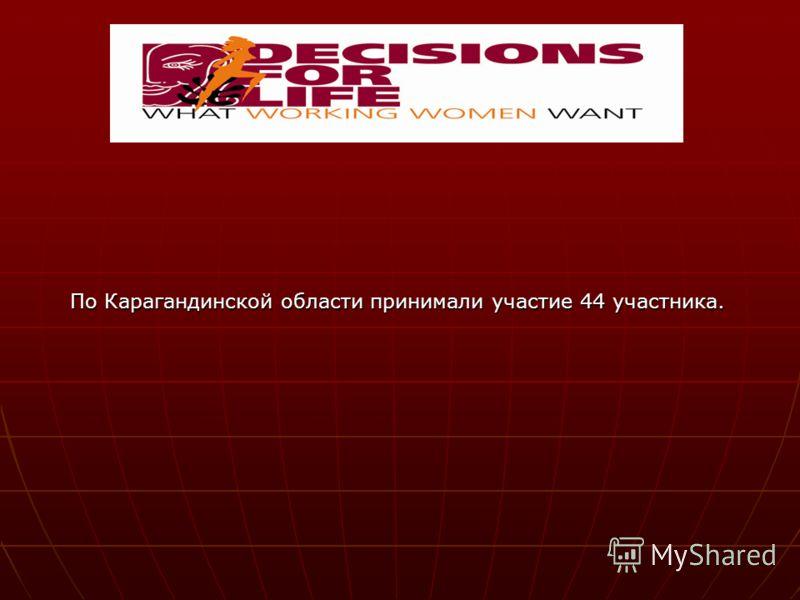 По Карагандинской области принимали участие 44 участника.