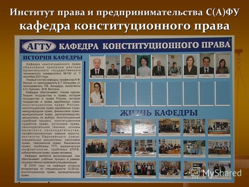 Институт права и предпринимательства С(А)ФУ кафедра конституционного права