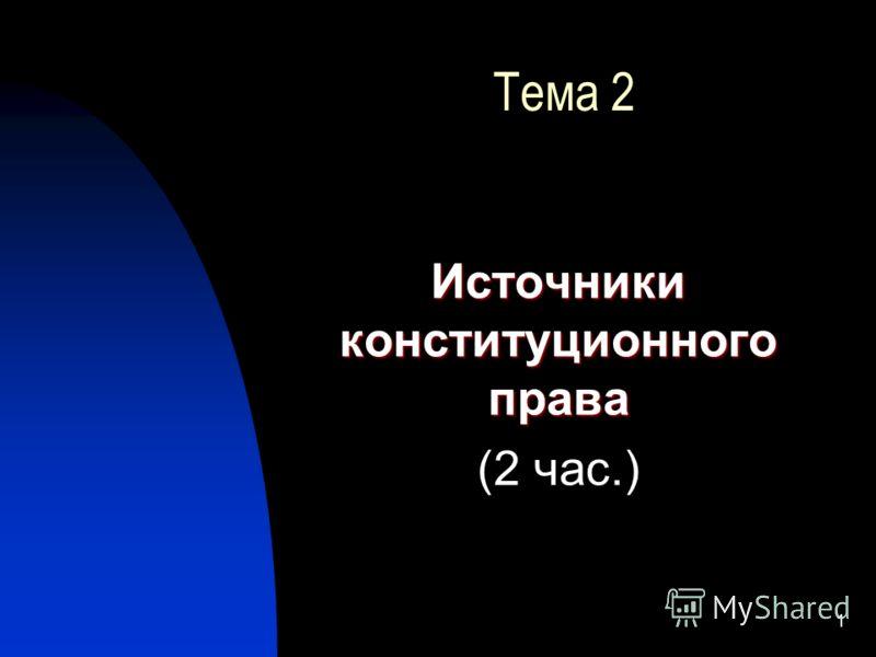 1 Тема 2 Источники конституционного права (2 час.)
