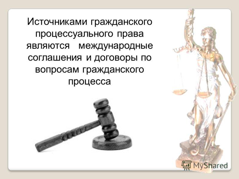 132 Источниками гражданского процессуального права являются международные соглашения и договоры по вопросам гражданского процесса