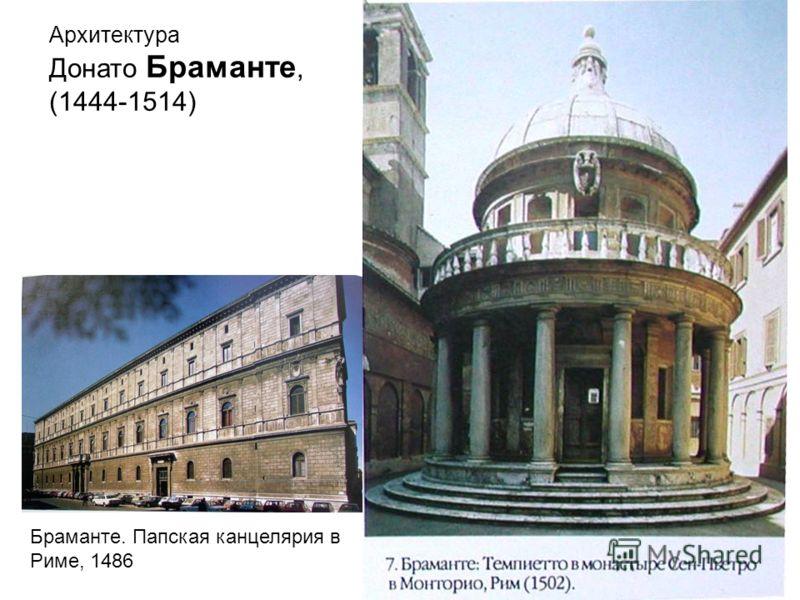 Браманте. Папская канцелярия в Риме, 1486 Архитектура Донато Браманте, (1444-1514)
