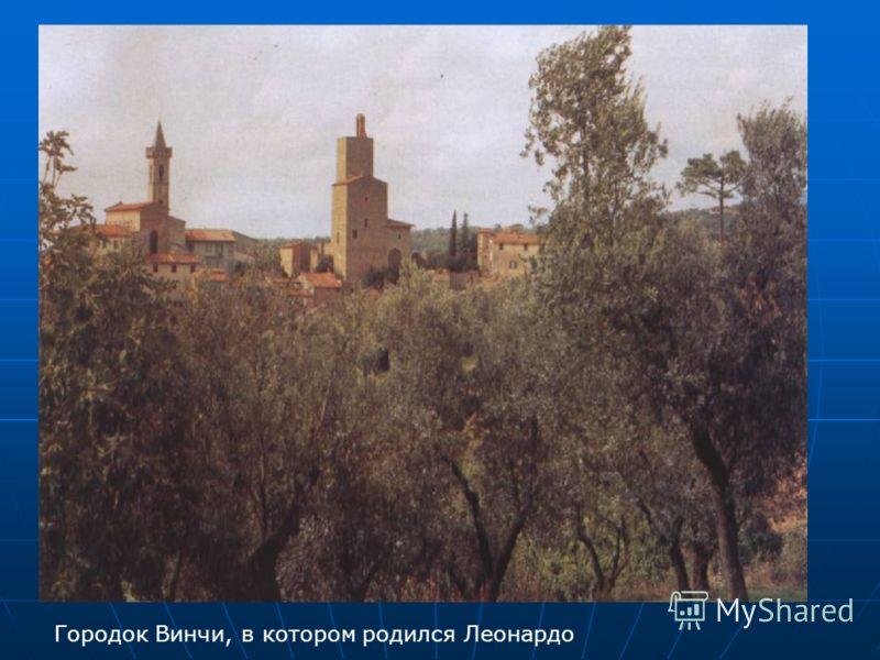 Городок Винчи, в котором родился Леонардо