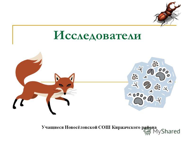 Исследователи Учащиеся Новосёловской СОШ Киржачского района