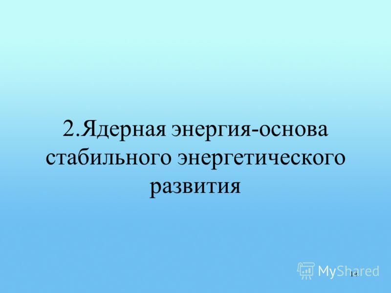 2.Ядерная энергия-основа стабильного энергетического развития 14